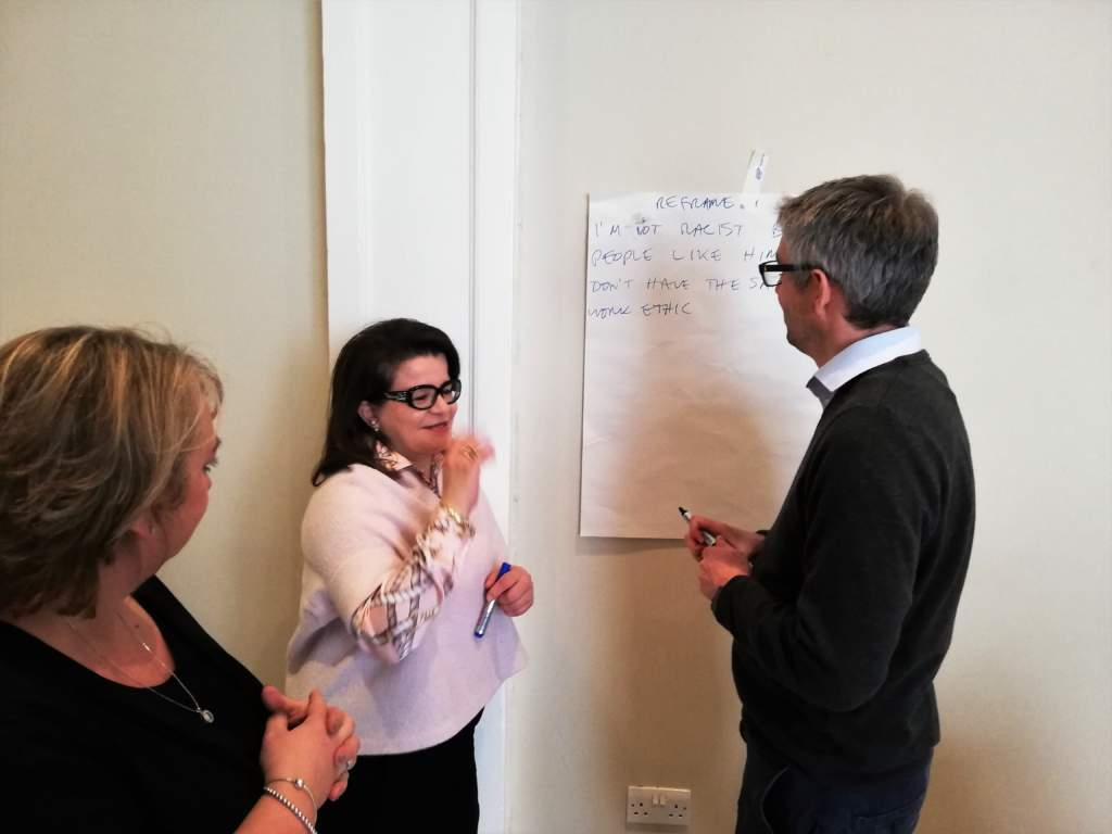 flip chart activities on our mediator course
